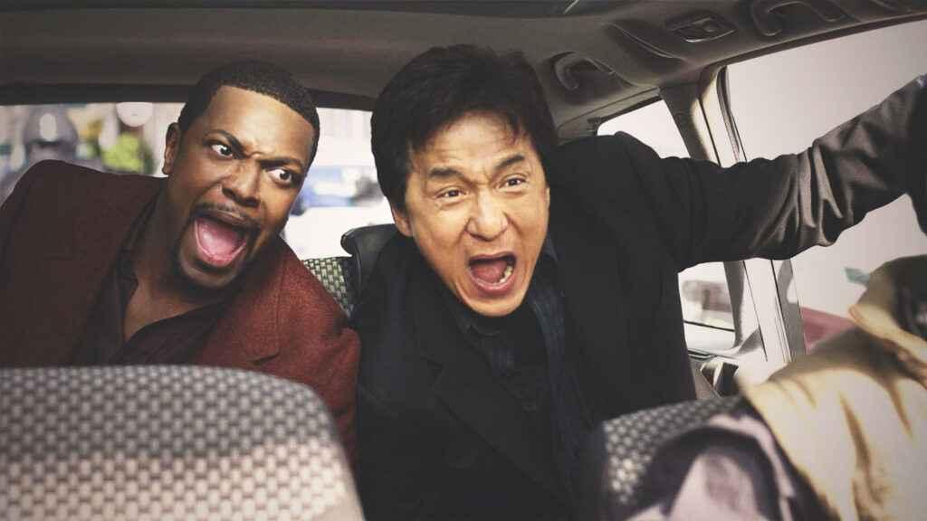 Chrish Tucker and Jackie Chan in Rush Hour 3 (2007)